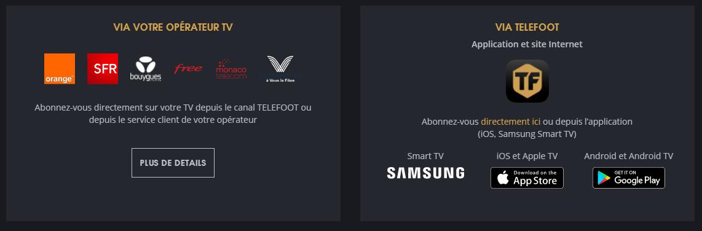 TeleFoot dispo orange free